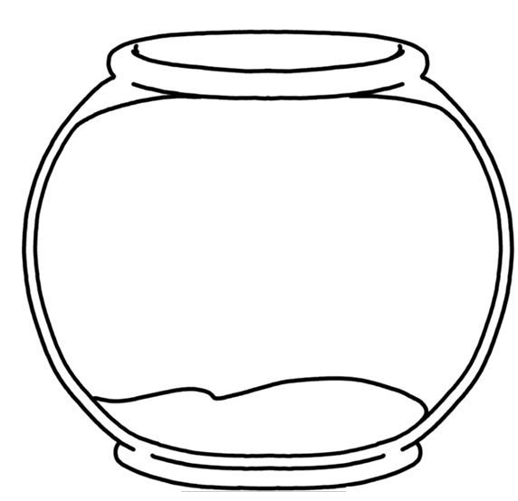 Fish Bowl Template - Cliparts.co