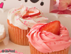 Strawberry Patch Cupcakes made with cake mix