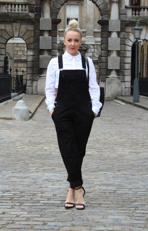 Joanne wears: Dungarees & Shirt: ASOS, Bag: Zara, Shoes: New Look