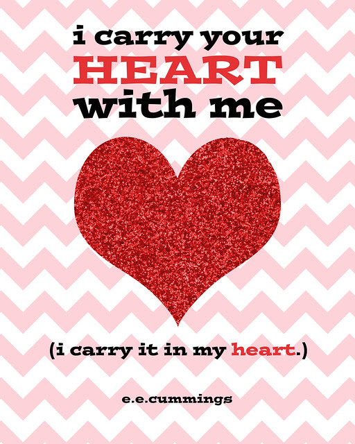 i carry your heart with me Free Printable