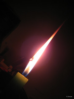 candle lit
