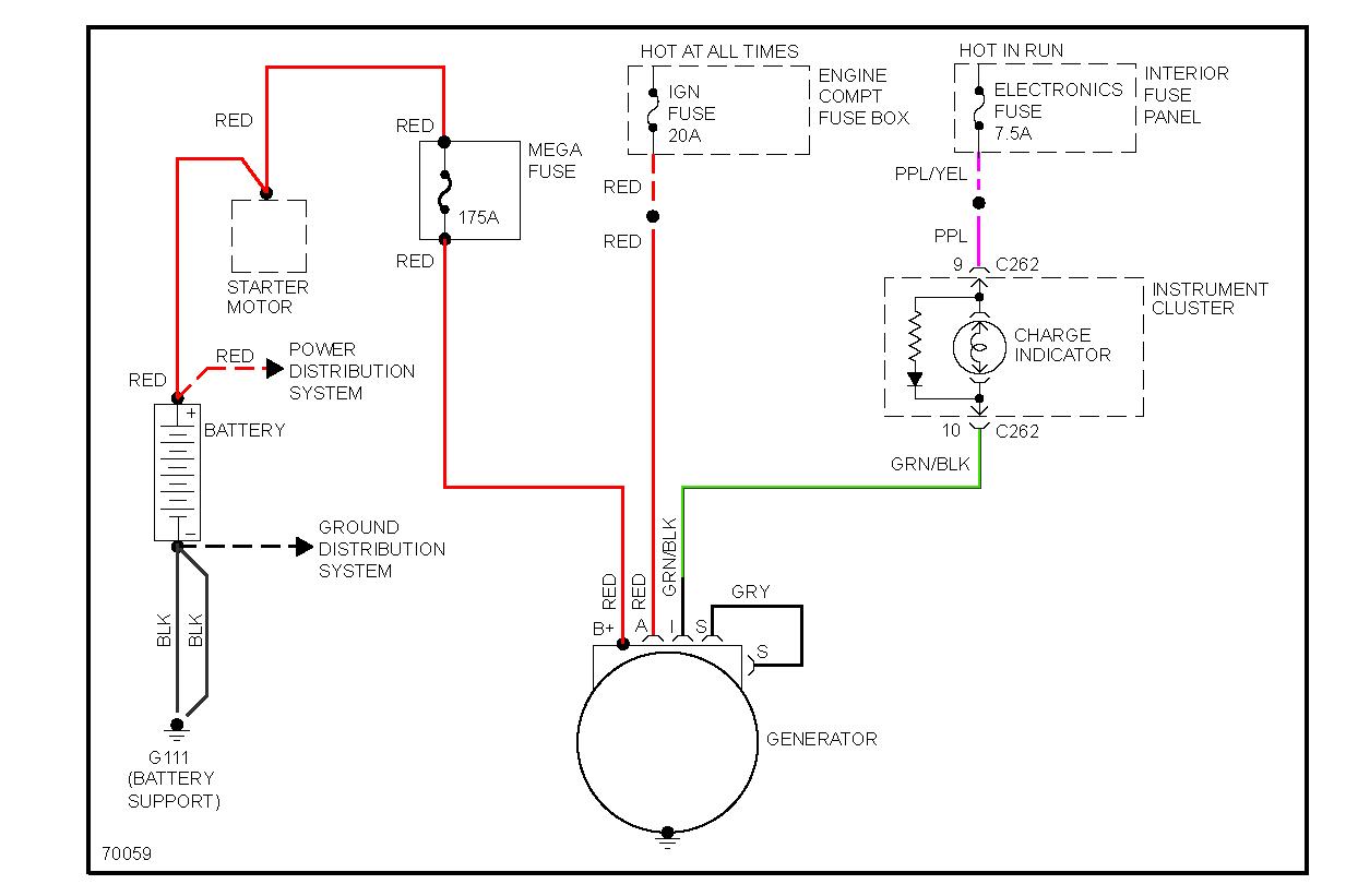 Ford contour alternator wiring diagram
