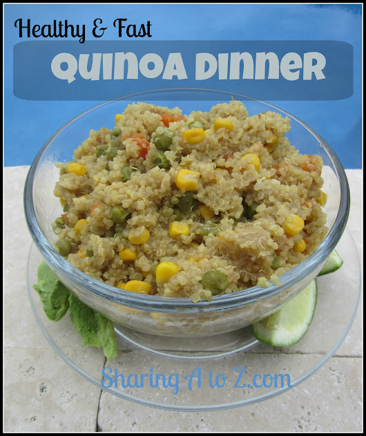 Quinoa dinner recipe - Sharing A to Z