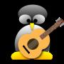 tux, guitar