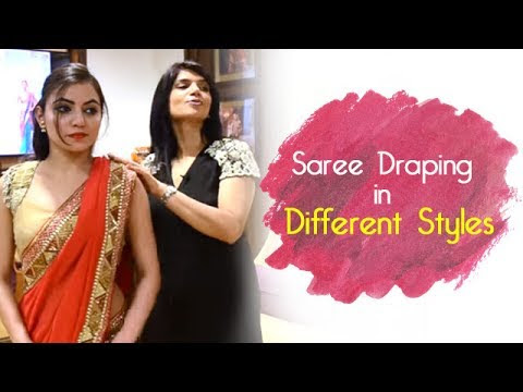 How To Wear Saree? | Saree Draping In Different Styles | Saree Wearing | DIY | Wedding Asia