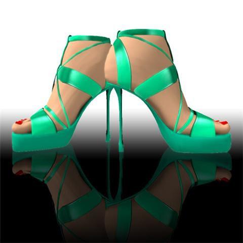 Free Teal Stilettos