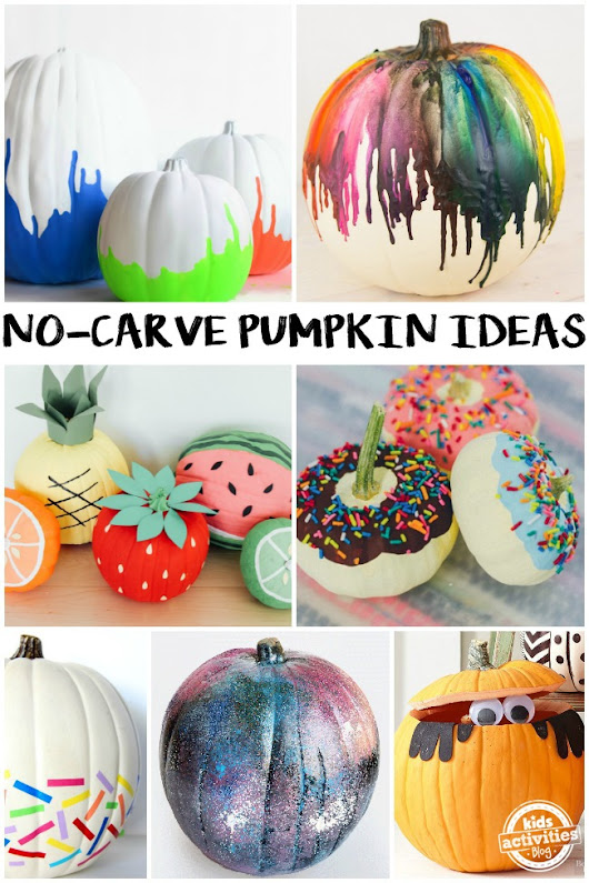 NO-CARVE PUMPKIN IDEAS - Kids Activities