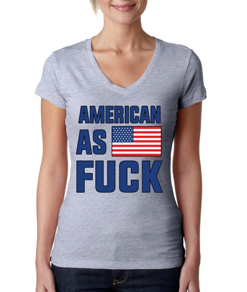 AMERICAN AS FLAG FUCK Sporty Tee Shirt
