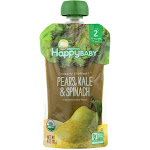 Happy Baby Clearly Crafted Organic Baby Food, Stage 2 - 4 oz pouch