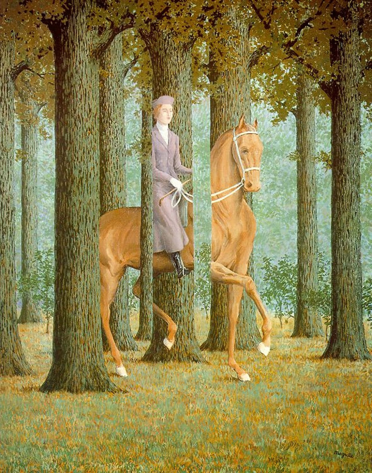 The blank signature, 1965 Rene Magritte