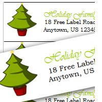 Holiday Return Address Label Template