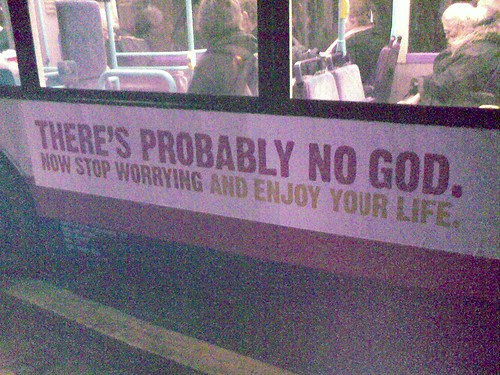 Atheist bus advert