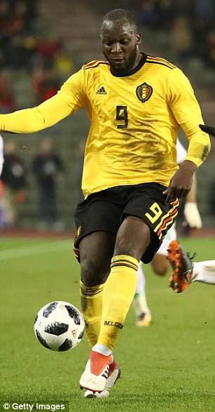 Jan Vertonghen and Romelu Lukaku show off the Belgium World Cup kits