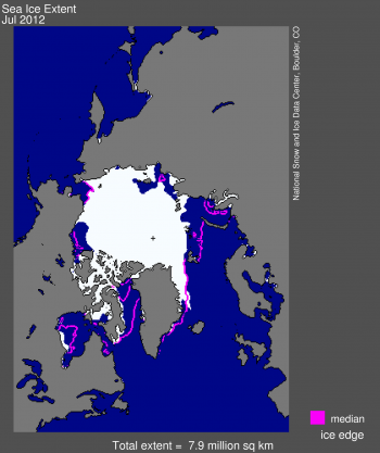 Sea ice image for July 2012