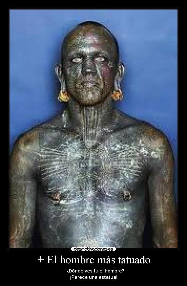 El Hombre Más Tatuado Desmotivaciones