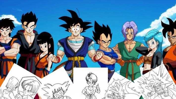 Disegni Da Colorare Gratis Goku.Goku Super Saiyan Disegni Da Colorare Dragon Ball Coloring Collection Immagini