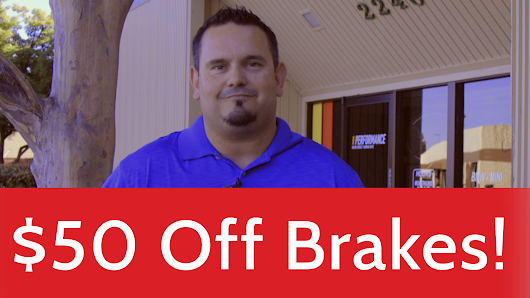 $50 off Brakes, German auto discount September 2018 Roseville, Rocklin