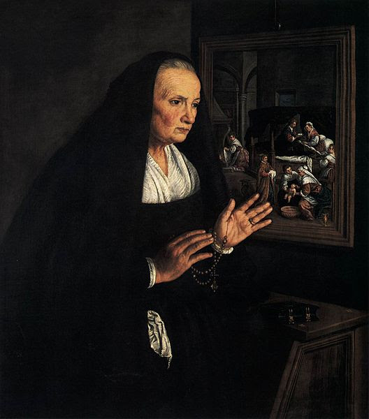 File:Leandro Bassano - Portrait of a Widow at her Devotions - WGA1472.jpg
