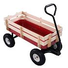 Gymax Wagon All Terrain Pulling Children Kid Garden Cart Outdoor, Red