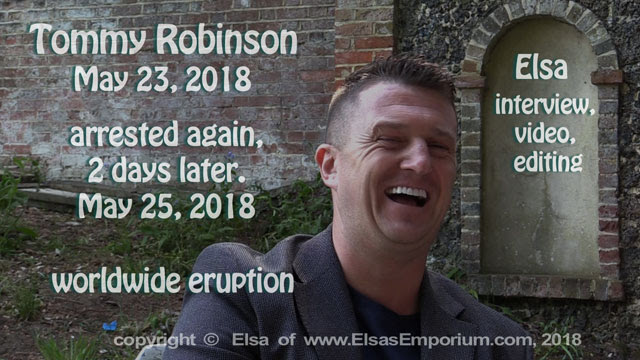 Tommy Robinson, May 23, 2018