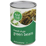 Food Club, French Style Cut Green Beans