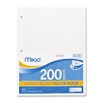Mead MEA17208 Notebook Paper 3HPCollege Ruled 200 Sht-PK8.5 in. x 11 in. WE