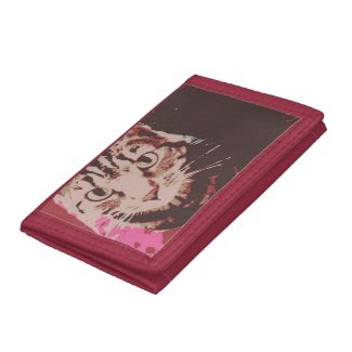 Tabby Cat Poster Art Tri-fold Wallets