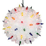 """5"""" Multi Color Twinkling Lighted Hanging Starlight Sphere Outdoor Christmas Decoration by Christmas Central"""