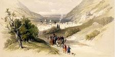Paisaje de la entrada a la ciudad de Nablus