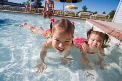 Photo: Kids in a pool.
