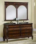 Bathroom: Interesting Double Marble Vessel Sink With Cute Bamboo ...