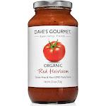 Daves Gourmet Foods Organic Red Heirloom Pasta Sauce 25.5 Oz Gluten Free DARPS-6