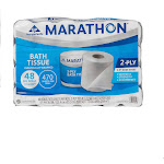 Marathon Bath Tissue, 2-Ply, 470 Sheets, 48 Rolls