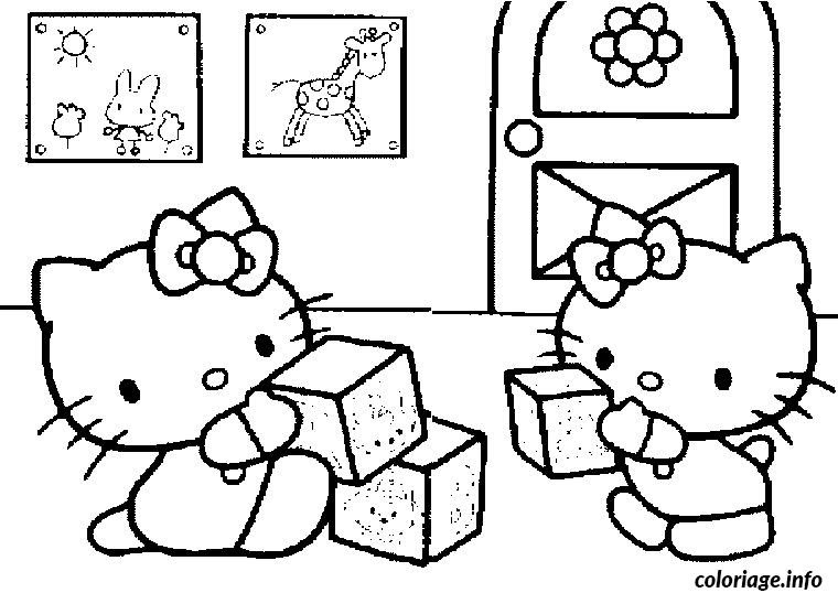Coloriage Hello Kitty Bebe Jecoloriecom