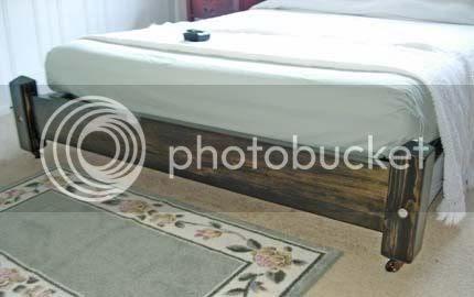 palmer artifice platform bed on casters. Black Bedroom Furniture Sets. Home Design Ideas