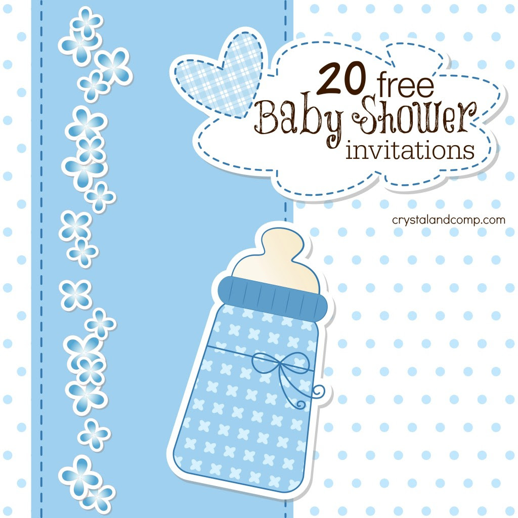 Baby Boy Shower Invitations Free