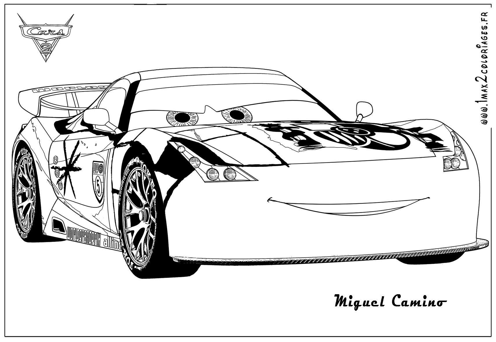 Choupette cars2 coloriage