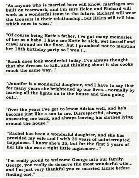 Speech examples   Father of the bride   Bride speech