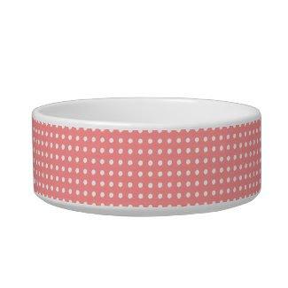 Sweet Pink/White Polka Dots petbowl