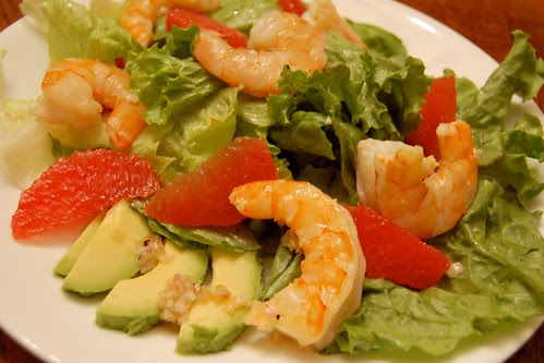 Avocado and Grapefruit Salad with Shrimp
