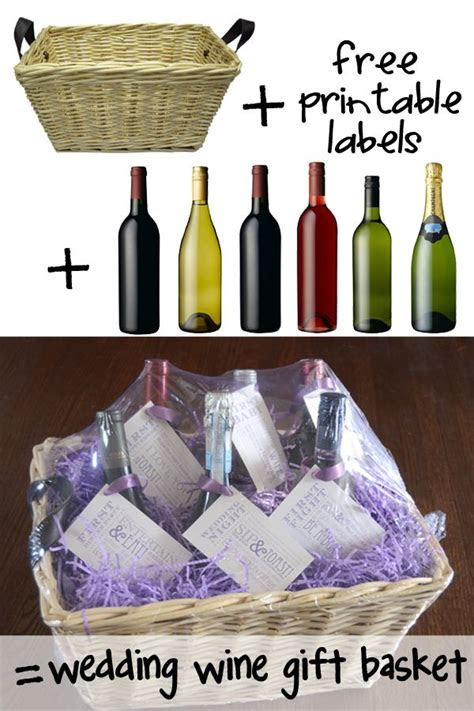 95 best Diy wedding wine basket ideas images on Pinterest