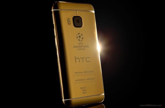 HTC celebrates the UEFA Champions League final with 24ct gold One M9