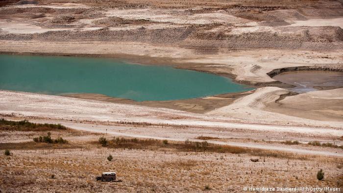 Iran Lar Damm Wasserknappheit Reservoir (Hamidreza Dastjerdi/AFP/Getty IMages)