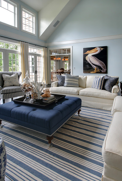 West Coast Hampton traditional living room