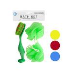 Bulk Buys GE056-48 Bath Sponges & Foot Brush Set