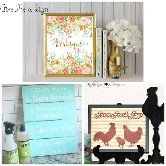 Give Me A Sign Monday Inspirations - Katherines Corner