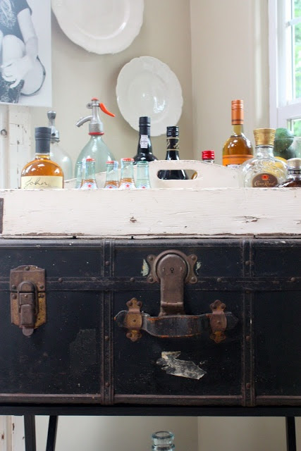 ~thrifty thursday, the making of a bar cart~