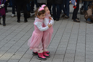 Adorable twins dressed for Fastnacht