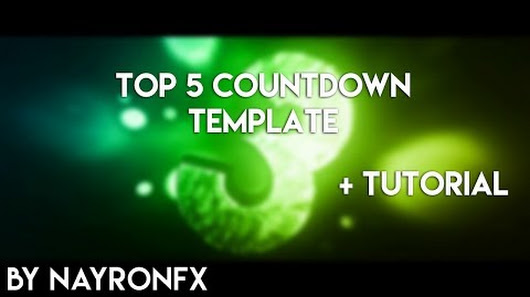 new top 5 countdown template edit tutorial