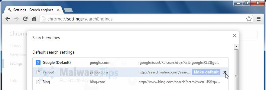 [Image: Yahoo Search Chrome removal]